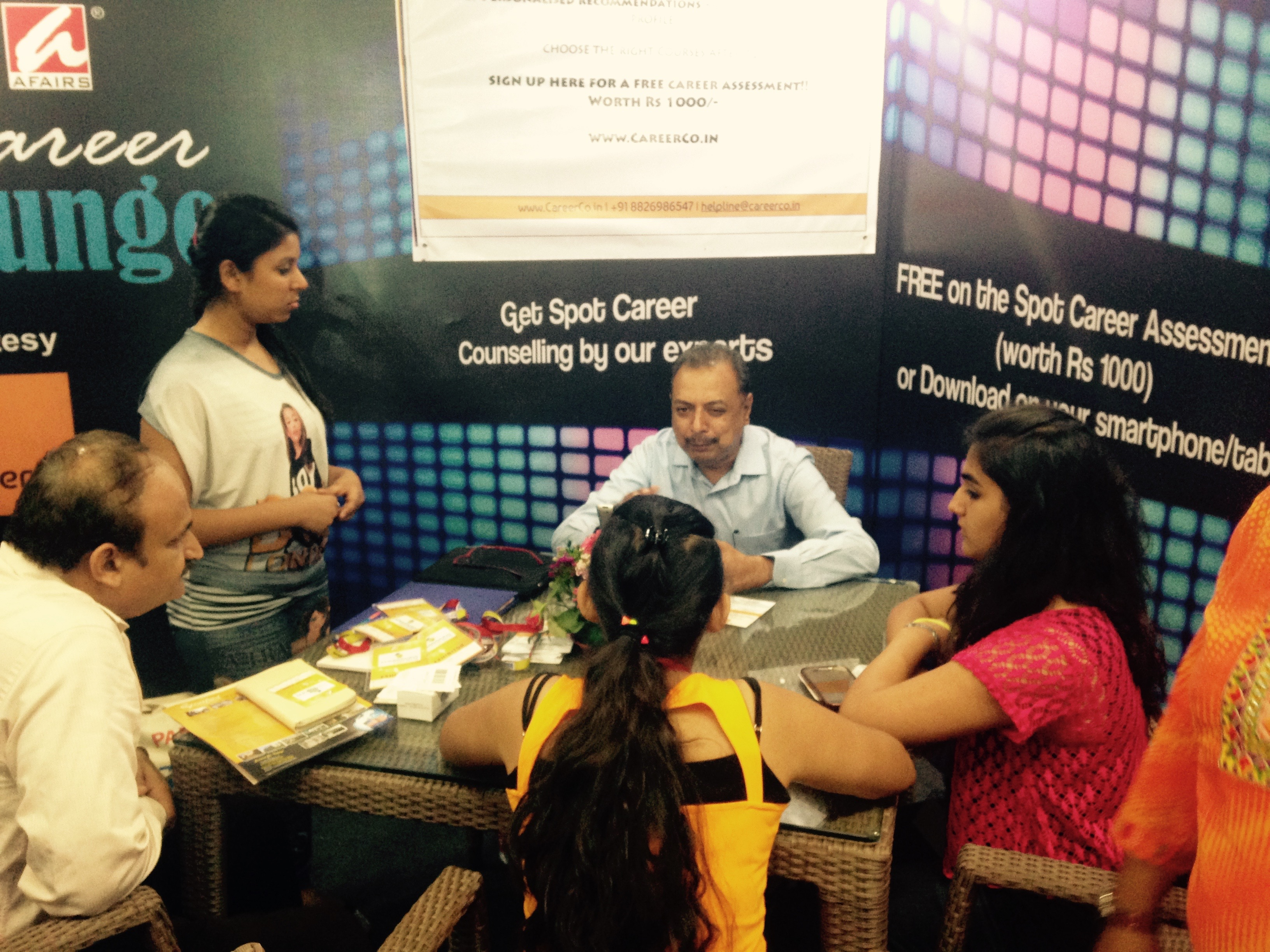 workshops and seminars by careerco career lounge at the admissions fair 2015